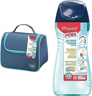 Maped Picnik Origins - Lunch bag Sac à Déjeuner Isotherme - Bleu & Picnik Origins - Gourde pour Enfants avec Capuchon de P...
