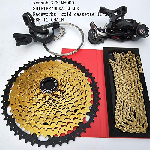 MTB 1 * 11 Speed Groupset Bicicleta 11-50T Cassette Shifter Desviador Trasero Cadena De Engranajes 11S Bike Group Set para SRAM Shimano XT M8000 (Color : Shift Derailleur)