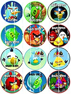 ANGRY BIRDS: Edible image birthday cupcake toppers premium frosting sheets