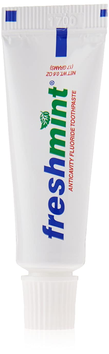 叙情的なダーベビルのテスオープニングFreshmint - 0.6 oz Freshmint Fluoride Toothpaste (Cases of 144 items) by Freshmint