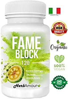 Herbfit FAME BLOCK I 120 Pastillas Para Adelgazar Rapido Potente I Capsulas Quemagrasa Adelgazantes I Quemador
