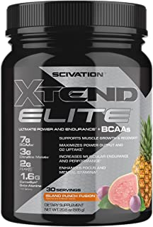 XTEND Elite BCAA Powder Island Punch Fusion | Sugar Free Post Workout Muscle Recovery Drink with Amino Acids | 7g BCAAs for Men & Women| 30 Servings
