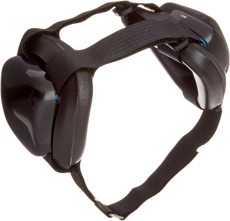 Mutt Muffs DDR337 Hearing Predection for Dogs, Black, Medium