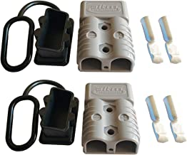 175A Battery Connector AWG 1/0 Quick Connect Battery Modular Power Connectors Quick Disconnect (Grey)