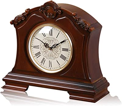 JIAHE115 Solid Wood Clocks, Clocks, Clocks, Hourly Bedrooms, Living Room Clocks,