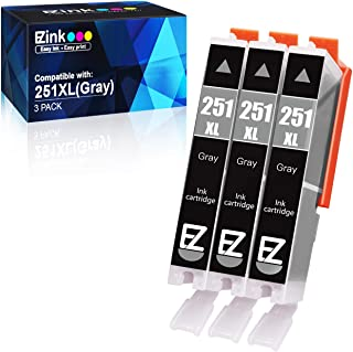 E-Z Ink (TM) Compatible Ink Cartridge Replacement for Canon CLI-251XL CLI 251 XL to use with PIXMA MG6320 Pixma MG7120 Pixma MG7520 Pixma IP8720 (Gray) 3 Pack