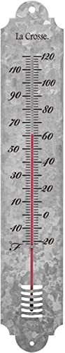 """high quality COLIBROX outlet online sale 204-1550 19.25"""" Indoor/Outdoor discount Galvanized Metal Thermometer online"""