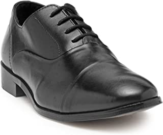 HATS OFF ACCESSORIES Black Leather Oxford Shoes with Blind Stitching