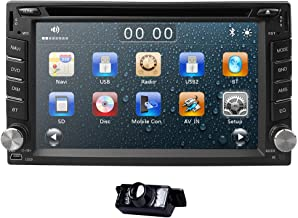 hizpo 6.2 Inch Universal Double 2 Din in Dash Car CD DVD Player GPS Stereo Radio BT USB RDS + Free MAP Card + Reverse Camera