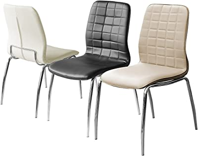 Checkers Black dining chair