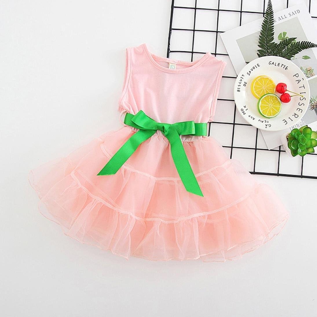 Memela Baby Little Girls Clothes Bowknot Net Yarn Dress 1-4 Years Spring//Summer
