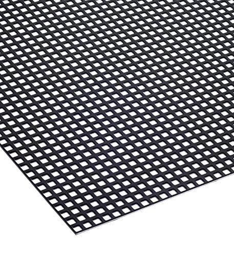 Lochblech Schwarz RAL 9005 Stahl Verzinkt Pulverbeschichtet QG 5-8mm 1,5mm dick magnetisch Neu (500 mm x 200 mm)