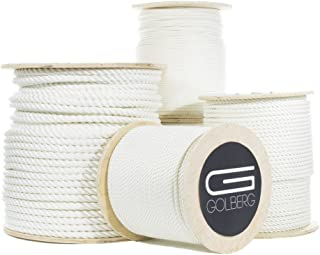 GOLBERG G Twisted Nylon Rope (1 Inch x 100 Feet) - White Multipurpose Utility Line - Dock Lines, Towing Lines, Heavy Loads and Crafts