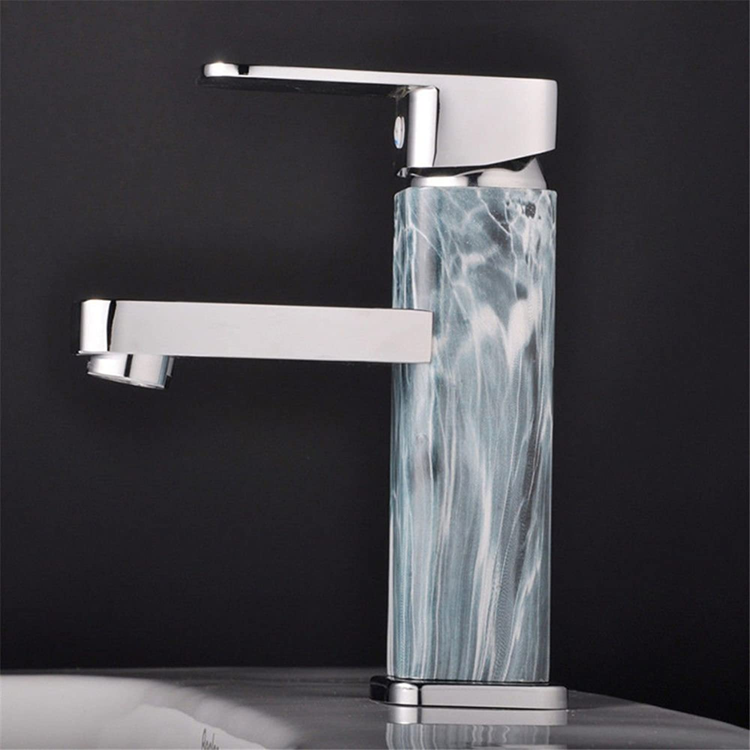 AQMMi Bathroom Sink Faucet Basin Mixer Tap Hot and Cold Water 1 Hole Basin Sink Tap Bathroom Bar Faucet