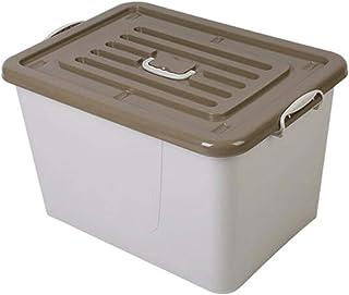 Lpiotyucwh Paniers et Boîtes De Rangement, Boîte de rangement en plastique à grande capacité ménagère avec couvercle boîte...