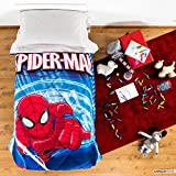 Colcha individual 1plaza Invierno microfibra Spiderman