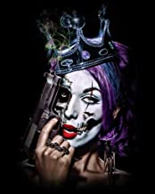 Killer Queens by Daveed Benito Sexy Young Gothic Woman Painted Face Crown Handgun Cool Wall Decor Art Print Poster 24x30