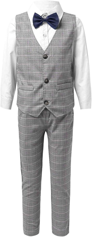 25% OFF Haitryli Gentleman Boys 4PCS Formal Shi Sales for sale Suit Outfit Dress Bowtie