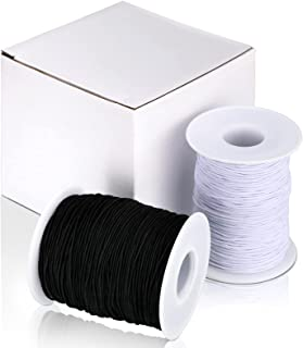 (100 m) - 2 Roll Elastic Cord Thread Beading Threads Stretch String Fabric Crafting Cord for Jewellery Making, 0.8 mm, 100...