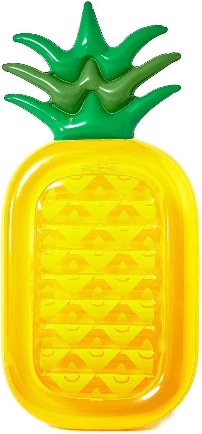 Vickea Inflatable Pineapple Pool Float Large Outdoor Swimming Inflatable Pool Floats Toys for Kids and Adults