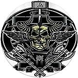 Zseeda Horloge Murale Moderne Thors Marteau Crâne Horloge Silencieuse Ronde Décorative 9.8 '