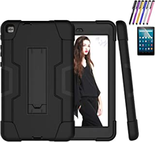 Cherrry Case for LG f2 8.0 LK460 / LG GPad X II 8.0 Plus, Hybrid Three Layer Heavy Duty Shockproof Rugged Full Body Protective Cover with Kickstand+Screen Protector+Stylus Pen (Black/Black)