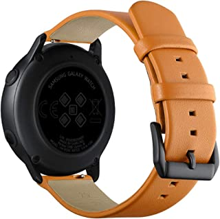 Dolloress 1x Leather Watch Band Replacement Band Wrist Strap Compatible with Galaxy Watch Active 20mm,3 Types Available