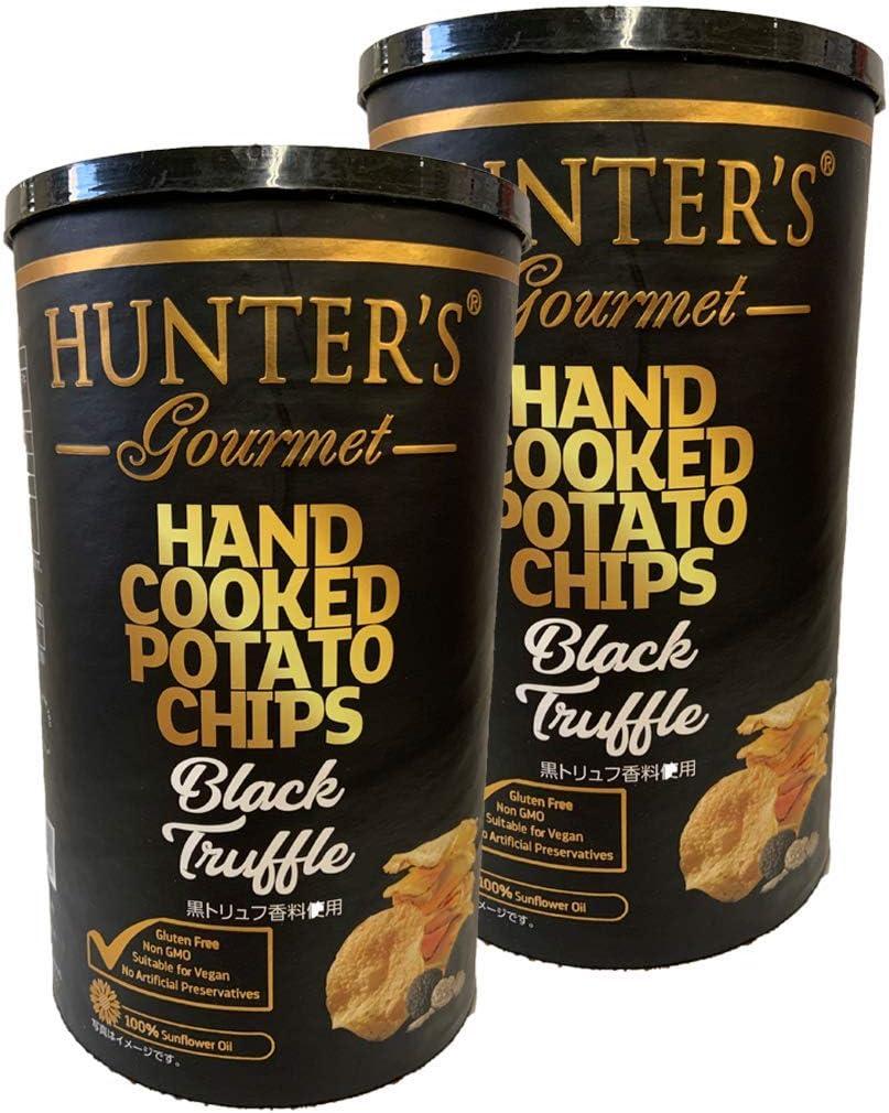 ハンターポテトチップス黒トリュフ 150g 缶2個