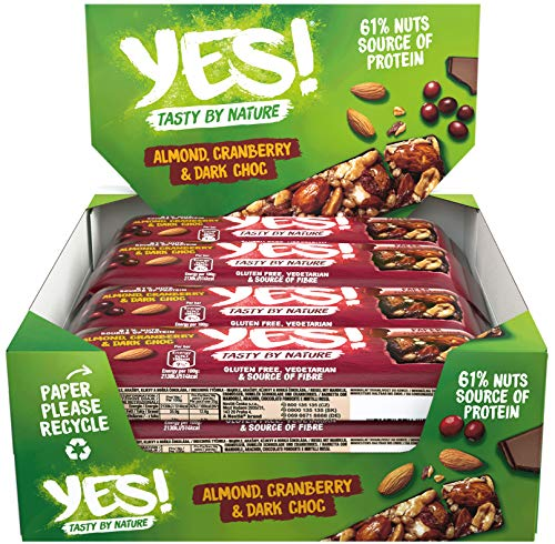 YES! Dunkle Schokolade & Cranberry, 12er Pack (12 x 35g)