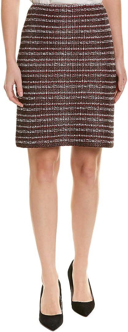 St. John Womens Novelty Tweed A-Line Skirt