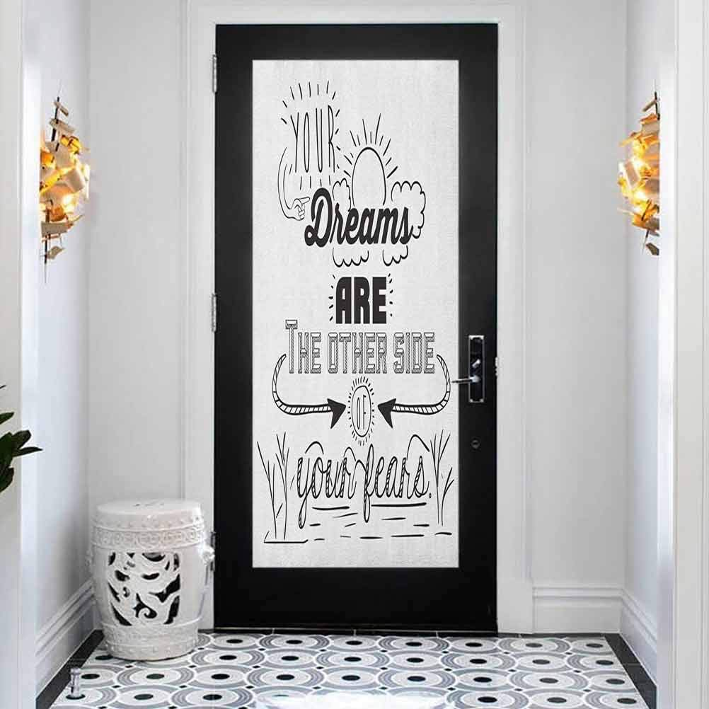 Home Decor 3D Self Adhesive Free Shipping Cheap Be super welcome Bargain Gift Door is Your Sticker Quotes Dreams