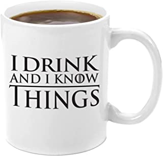 I Drink and I Know Things | Premium 11oz Coffee Mug Gift Set - GoT I Drink and I Know Things, Thats What I Do I Drink and I know Things, Game of Thrones Gifts, Glass, GoT Gift Set, for Men, Women