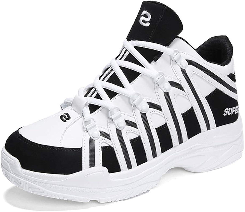 Unisex skor Mikrofiber faller nya Basketballskor High High High -top skor Lace Up Athletic skor Hiking skor Trail springaning skor vit, röd, svart YAN  gör rabattaktiviteter