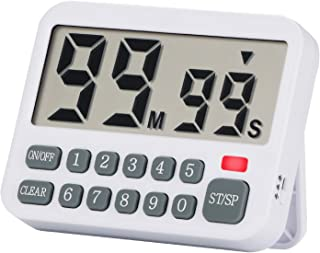 Neoikos 99 Minutes Count Up Down Kitchen Countdown Timer with Magnet for Cooking Baking Study Games