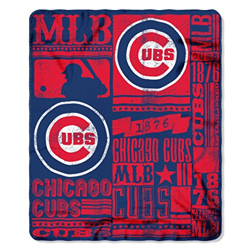 The Northwest Company (NW-203778) MLB Chicago Cubs Strength Printed Fleece Throw, 50-inch by 60-inch