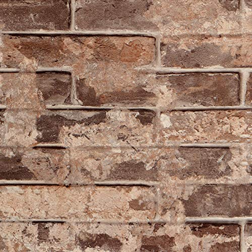 Livelynine 40CMX5M Carta da Parati Mattoni 3D Adesivi per Pareti Carta Adesiva per Pareti Camera Letto Adesivo Cucina Rivestimento Parete Effetto Pietra Paraschizzi Cucina Adesivo Mattone Vintage