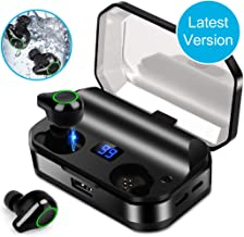 Wireless Earbuds Bluetooth 5.0 Headphones IPX7 Waterproof Wireless Earphones Sports Headset HiFi 6D Surround Stereo Auto Pairing DSP Noise-Canceling Headphones with 7000 mAh Charging Case