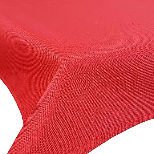 DILUMA Outdoor Tischdecke Lounge mit Lotuseffekt 160 x 160 cm Rot - Tischtuch wasserabweisend Tischwäsche Größen Gartentischdecke pflegeleicht und wetterfest