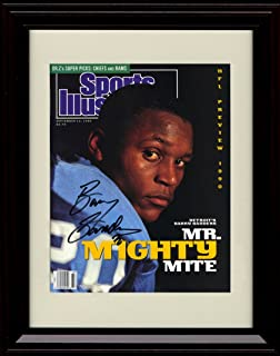 Framed Barry Sanders Sports Illustrated Autograph Replica Print - Mr. Mighty Mite