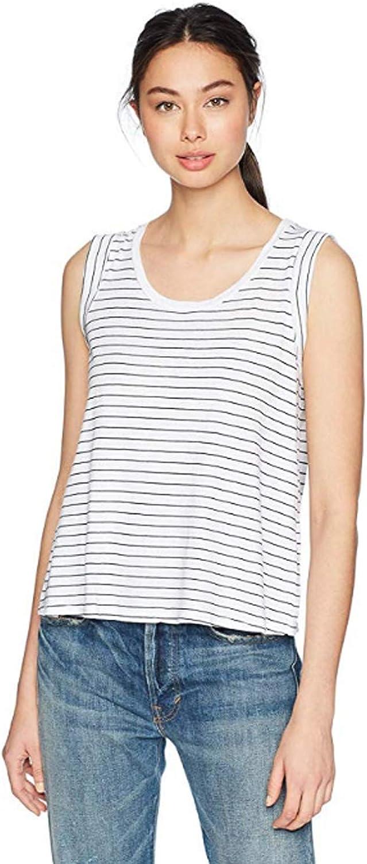 Three Dots Women's Big Sur Stripe Loose Short Tank