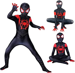 FC Unisex Lycra Spandex Spider Costumes Breathable Cosplay,Kids Full Jumpsuit for party,Spider-Verse Jumpsuits for Hallowe...
