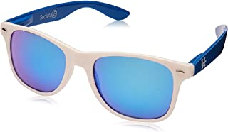 NCAA Kentucky Wildcats KENT-3 White Front Temple Blue Lens Sunglasses, One Size, White