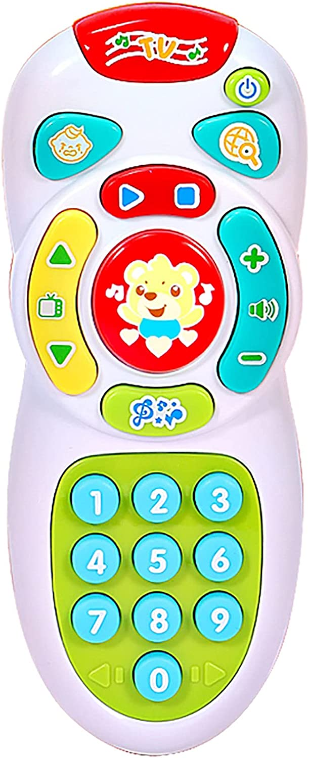 Dahuniu Baby Remote Control Toy with Light and Sounds, for 6 Months+ Old Boys and Girls.