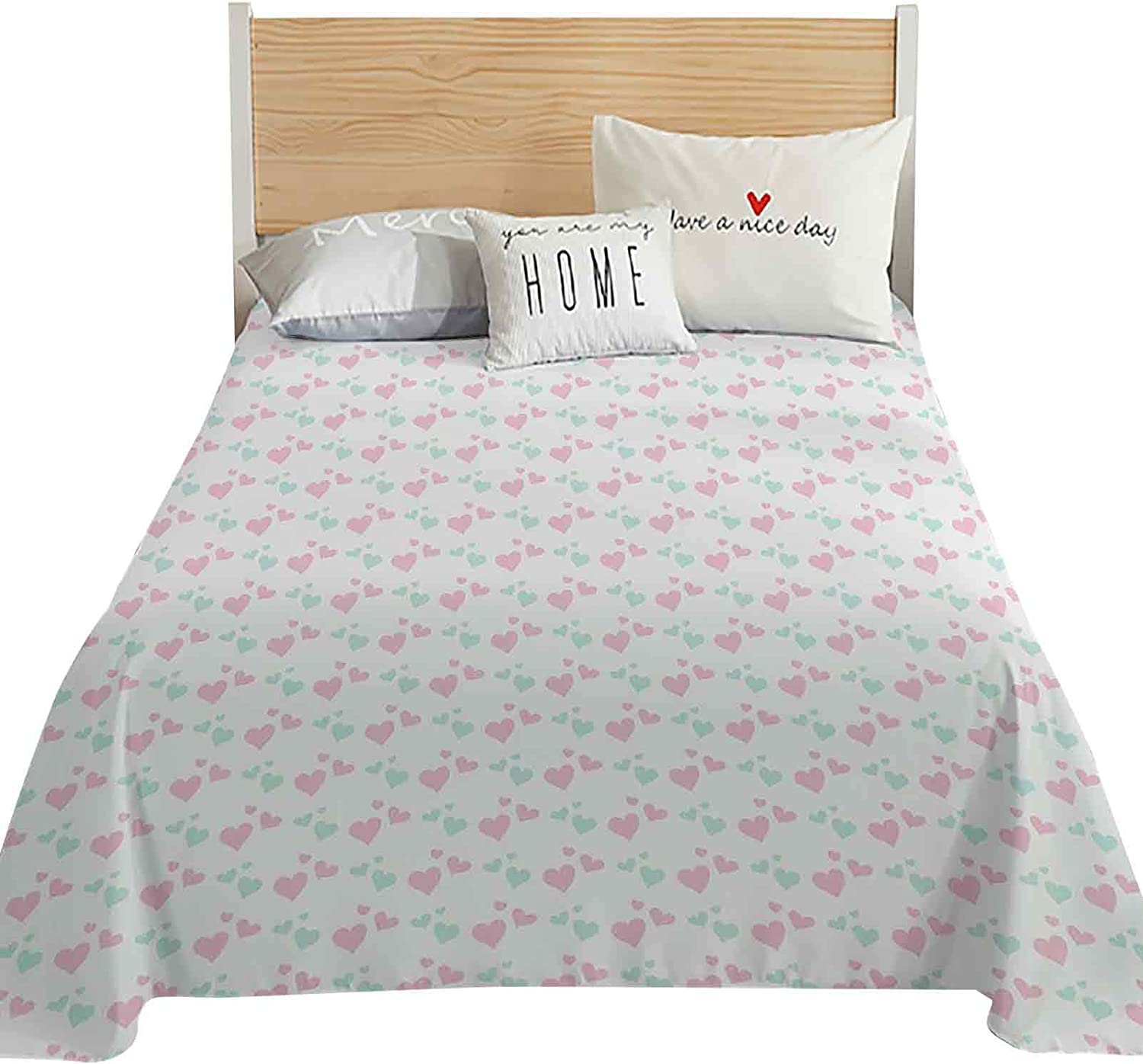 Kids Twin Size Quantity limited Louisville-Jefferson County Mall Flat Sheet Only Car Room Girls of Image Inspired