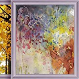 Bathroom Window Privacy Film Abstract Stained Glass Window Film Privacy Frosted Film Static Cling Glass Multicolor 23.6 x 35.4 in