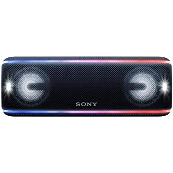 Sony SRS-XB41 Portable Bluetooth Speaker: Wireless Party Speaker with Flashing Line Light - Loud Audio for Phone Calls Bluetooth Speakers - Black - SRS-XB41