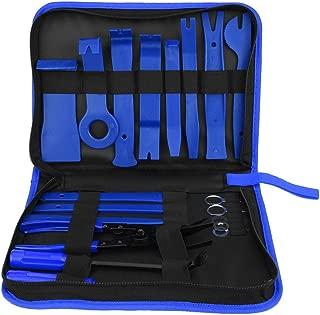 ARTGEAR Haute Qualit/é 5 PCS Multifonction D/émontage Outil pour Voiture Radio Audio Garniture Int/érieure Dash Tableau de Bord 3 pcs Plastique Pry Outil + M/étal Levier Outil + Fastener Remover