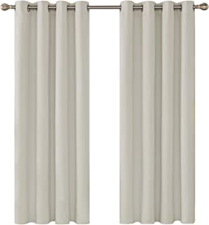 comprar comparacion Deconovo Cortinas de Salon para Ventanas Modernas Suaves 2 Piezas 117 x 138 cm Beige Claro