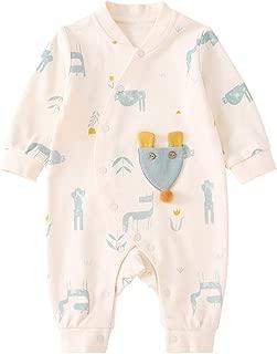 pureborn Newborn Baby Girl Boy Romper Jumpsuit Cotton One-Piece Coveralls