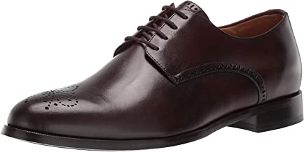 MARC JOSEPH NEW YORK Mens Leather Oxford Lace-Up Wingtip Dress Shoe, Whiskey Brushed Nappa, 11 M US